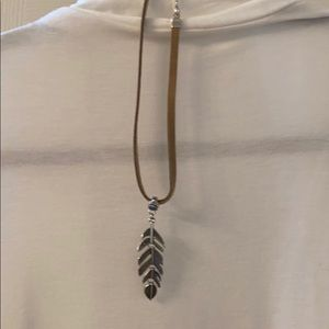 Silver leaf necklace Costume jewelry